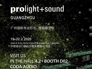 Coda Prolight+Sound Guangzhou 2020- Postponed